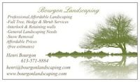 LAWNCARE AND LANDSCAPING (BOURGON LANDSCAPING)