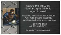 Welding Repairs portable service
