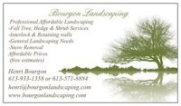 SNOW REMOVAL FREE ESTIMATES NO CONTRACTS(BOURGON LANDSCAPING)
