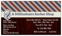 A Millionhairs Barber shop and Salon is moving!!