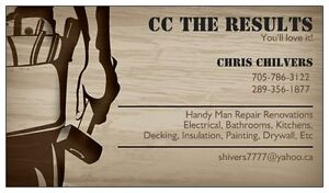 CC THE RESULTS certified handyman with over 20 years experience