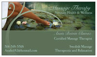 MOBILE MASSAGE THERAPY in the confort of your house!
