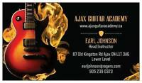 IN HOME Guitar Lessons - Ajax Guitar Academy