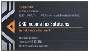 Income Tax Preparation, filing & bookeeping services