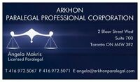 ** LEGAL SERVICES ** Toronto, York, Durham, Halton, Peel **