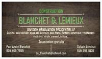 Construction Blanchet et Lemieux - division rénovation