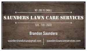 Saunders lawn care professional