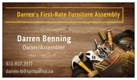 Darren's First-Rate Furniture Assembly