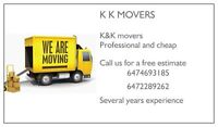 Moving, Packing  and delivery services