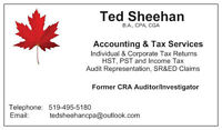Former CRA Auditor - Individual & Corporate Tax Returns Prepared
