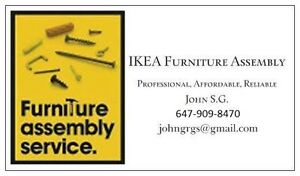 IKEA Furniture Assembly & TV mounting - TORONTO- Downtown