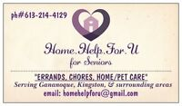 HOME-HELP-FOR-U service for Seniors