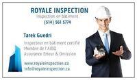 Inspecteur en bâtiment certifié et assuré