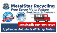 ★FREE SCRAP METAL PICKUP★TEXT/CALL 289-404-8479★