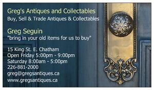 GREG'S ANTIQUES & COLLECTABLES IN NEW FLEA MARKET