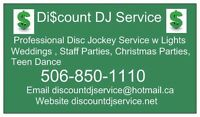Discount DJ Service Wedding Event Disc Jockey