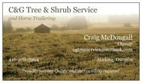 C&G Tree & Shrub Service - Quinte and Surrounding Areas