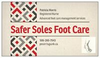 Foot care by a Registered Nurse