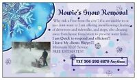Residential/small business snow removal!