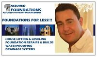 FOUNDATIONS FOR LESS!!! HOUSE LIFTING, LEVELING & WATERPROOFING