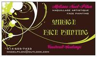 Mirage face painting / Maquillage Ouest de l'ile / West island