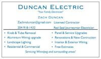 "Duncan Electric ""Your Family Electrician"""