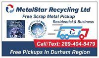 METALSTAR RECYCLING: FREE SCRAP METAL PICKUP!! ★289-404-8479★