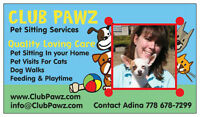 Going Away On Vacation? Need A Pet Sitter? www.ClubPawz.com