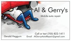 Al and Gerry's mobile auto repair.