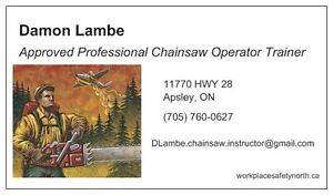 Professional Chainsaw Operator Course dates