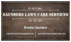 Saunders lawn care professionals