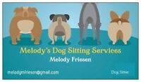Professional Dog Sitting Service for Southern Wpg (in your home)