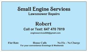 Lawnmower Repair – House calls. Flat Rate - Scarborough