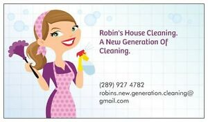 Robins New Generation House Cleaning New to Apsley.