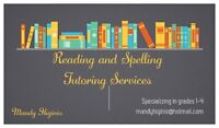 Reading and Spelling Tutoring Services