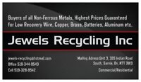 Jewels Recycling *Best prices for wire, Aluminium, Brass, Batter