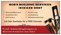 BOB'S BUILDING AND HANDYMAN SERVICES - KINGSTON & AREA