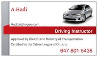 MTO APPROVED, Experience Driving Instructor..!