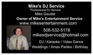 Mike's DJ Service Weddings, Xmas, Family Reunion