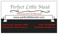 Perfect Little Maid cleaning Peterborough &The Kawarthas lakes