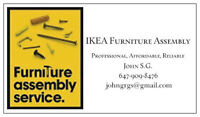 IKEA Assembly Specialist, starting $60, same or next day service