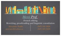 Merci Prof ! - French proofreading, translation and writing