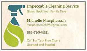 Impeccable Cleaning Service Windsor Region Ontario image 1
