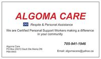 Personal support workers (psw) Sault Ste Marie.