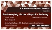 L & A Business Support Services - Bookkeeping, Taxes, Payroll &