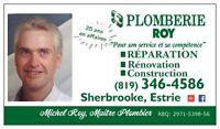 PLOMBERIE ROY inc. =  plombiers d 'expériences .