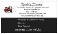 Quality Moving & Dump removal.