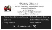 Moving, Dump Removal, Clean up & more