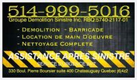 DEMOLITION RESIDENTIAL-COMMERCIAL-INDUSTRIAL (RBQ) 514-999-5016