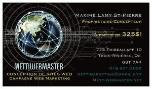 Conception Web à 325$ et Campagne WebMarketing